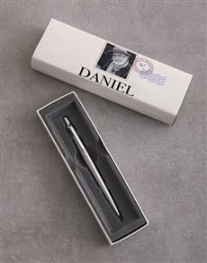 gifts: Personalised Postcard Parker Pen Gift Set!