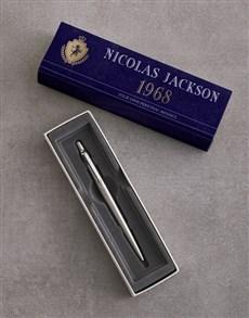 gifts: Personalised Blue Crest Parker Pen Gift Set!