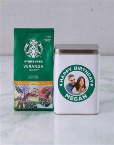 gifts: Personalised Starbucks Birthday Coffee Tin!
