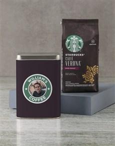 gifts: Personalised Starbucks Coffee Tin!