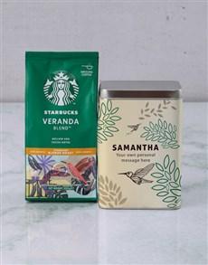 gifts: Personalised Starbucks Bird Coffee Tin!
