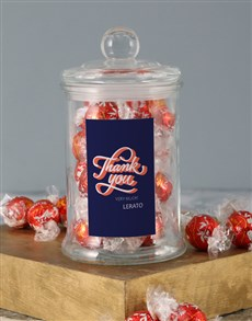 gifts: Personalised Thank You Lindt Candy Jar!
