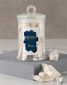 gifts: Personalised Geometric Sally Williams Candy Jar!