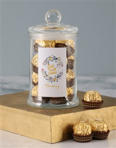 gifts: Personalised Get Well Wreath Ferrero Candy Jar!