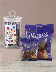 gifts: Personalised Get Well Soon Whispers Candy Jar!