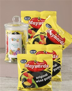 gifts: Personalised Get Well Maynards Candy Jar!