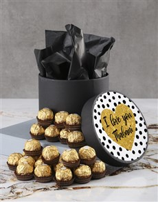 gifts: Personalised Love You Ferrero Rocher Hatbox!