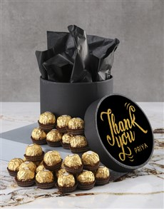 gifts: Personalised Thank You Ferrero Rocher Hatbox!