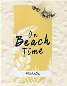 gifts: Personalised Beach Time Beach Towel And Bag!