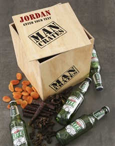 gifts: Personalised Drink and Snack Man Crate!