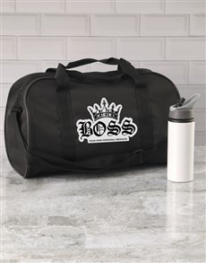 gifts: Personalised Royal Boss Gym Bag!