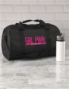 gifts: Personalised Girl Power Gym Bag!