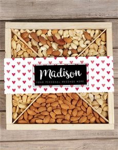 gifts: Personalised Hearts Nut Tray!