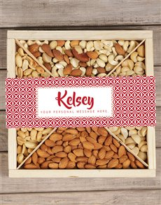 gifts: Personalised Red Nut Tray!