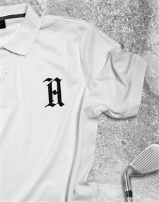 gifts: Personalised White Polo Shirt!