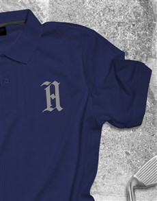 gifts: Personalised Navy Polo Shirt!