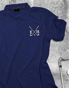 gifts: Personalised Golf Club Navy Polo Shirt!