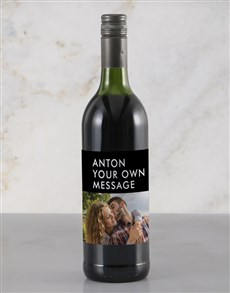 gifts: Personalised Stylish Photo Rietvallei Wine!