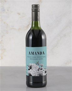 gifts: Personalised Floral Message Rietvallei Wine!