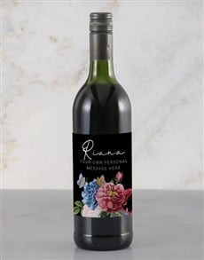 gifts: Personalised Colourful Florals Rietvallei Wine!