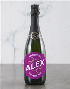 gifts: Personalised Pink Birthday Backsberg Wine!