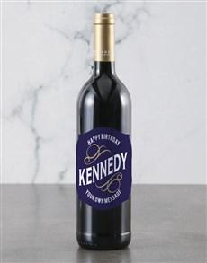 gifts: Personalised Blue Birthday Backsberg Wine!