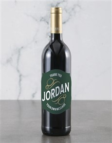 gifts: Personalised Thank You Backsberg Wine!
