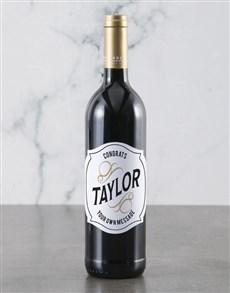 gifts: Personalised Congrats Backsberg Wine!