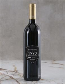 gifts: Personalised Anniversary Year Backsberg Wine!