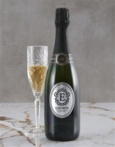 gifts: Personalised Elegant Monogram Backsberg Wine!