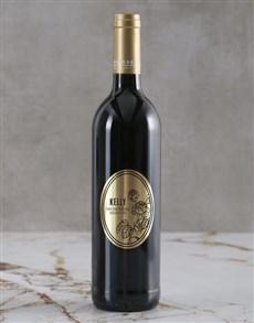 gifts: Personalised Floral Backsberg Wine!