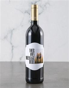 gifts: Personalised Photo Message Backsberg Wine!