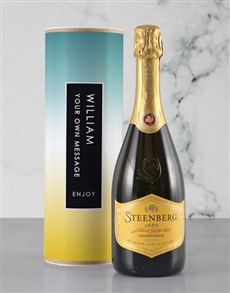 gifts: Personalised Blue and Gold Bubbly Tube!