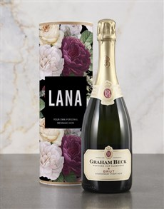 gifts: Personalised Floral Bubbly Tube!