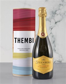 gifts: Personalised Colourful Canvas Bubbly Tube!