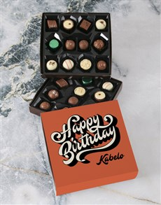 gifts: Personalised Birthday Wishes Double Choc Tray!