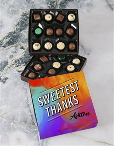 gifts: Personalised Thank You Double Choc Gift Tray!