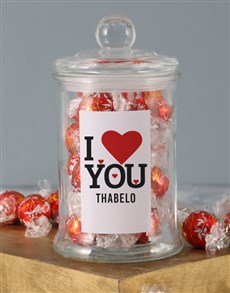 gifts: Personalised Love You Lindt Jar!