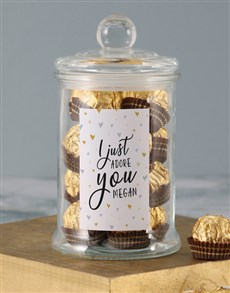 gifts: Personalised Adore You Ferrero Jar!