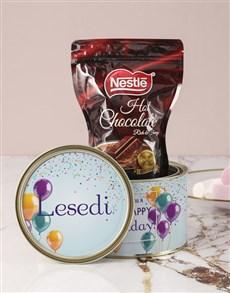 gifts: Personalised Birthday Wishes Hot Choc Tin!