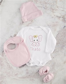 gifts: Personalised Pink Ellie Baby Clothing!