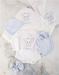 gifts: Personalised Blue Ellie Baby Bath Set!