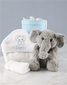 gifts: Personalised Blue Ellie Baby Hooded Towel!