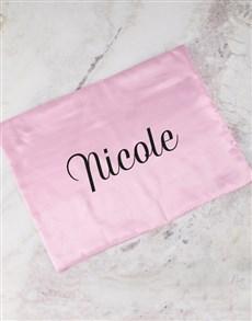 gifts: Personalised Pink Satin Pillowcase!