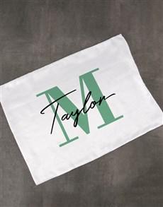 gifts: Personalised White Satin Pillowcase!