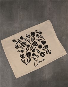 gifts: Personalised Floral Gold Pillowcase!