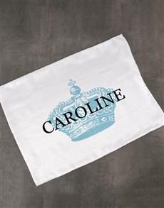 gifts: Personalised Royal White Pillowcase!