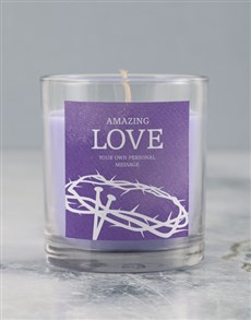 gifts: Personalised Hosanna Lenten Candle!