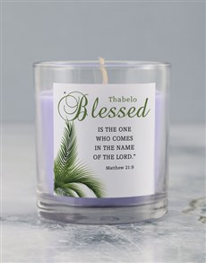 gifts: Personalised Blessed Lenten Candle!