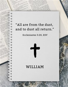 gifts: Personalised From Dust Easter Notebook!